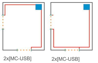 Две точки подсчета подключенные к компьютеру